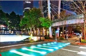 斑马线也发光?台湾新北市试点LED地灯昆山